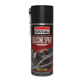 Soudal Silicone Spray 400ml Box of 6 Cleaners & Solvents Soudal