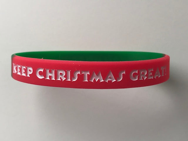 """KEEP CHRISTMAS GREAT! / TRUMP 2020"" Wristbands"