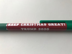"""KEEP CHRISTMAS GREAT! / TRUMP 2020"" Pens"