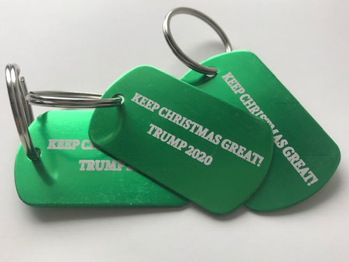 """KEEP CHRISTMAS GREAT! / TRUMP 2020"" Dog Tags"