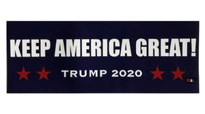 """Keep America Great! / Trump 2020"" Bumper Sticker"