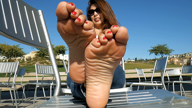 Bianca's Red Toes