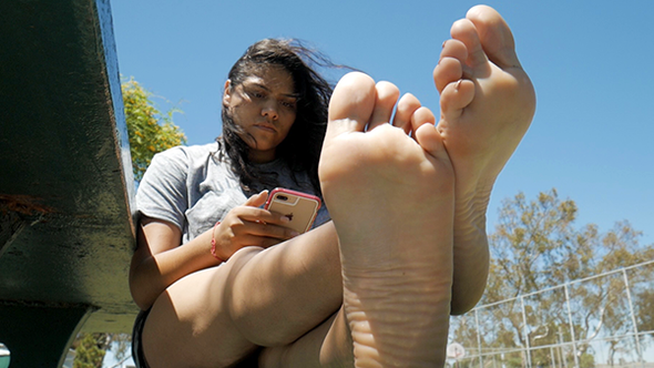 Crystal's Big Feet