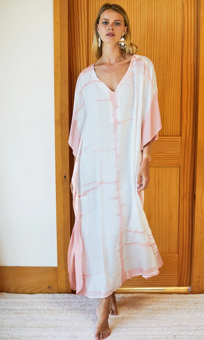 Tie Dye Caftan Muted Clay