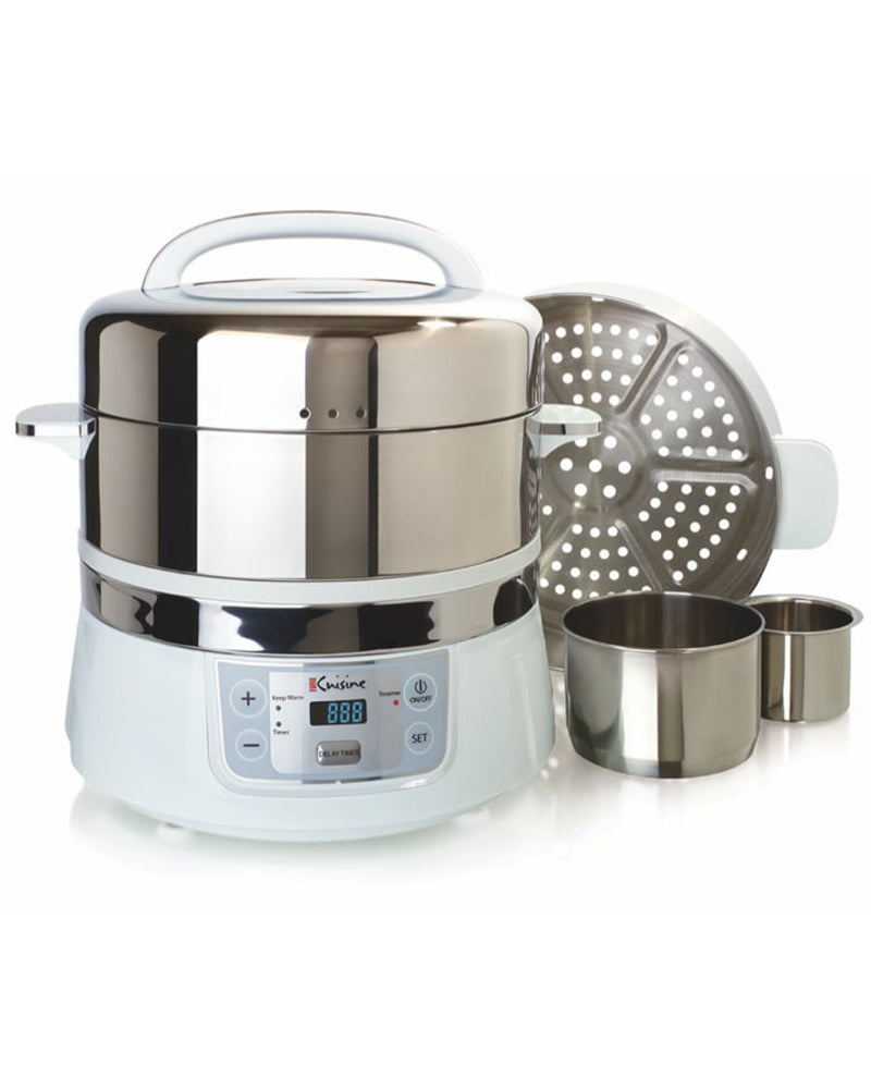 Euro Cuisine FS2500 Stainless Steel Electric Food Steamer