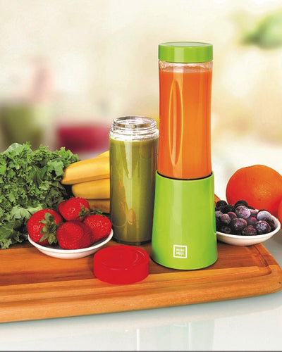 Euro Cuisine MM2G Mini Mixx Personal Blender with 2 Tritan Bottle Green