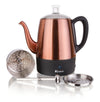 Euro Cuisine PER04  Electric Percolator - 4 Cups - Copper Finish