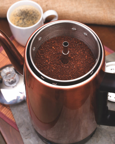 Euro Cuisine PER08 Electric  Percolator - 8 Cups - Copper Finish