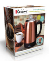Euro Cuisine PER12 Electric  Percolator - 12 Cups - Copper Finish