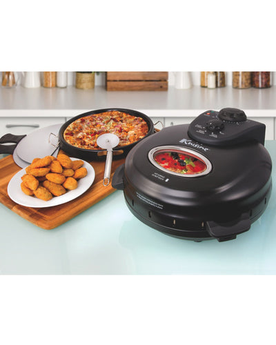 Euro Cuisine PM600 Pizza Maker With Rotating Stone & Deep Pan