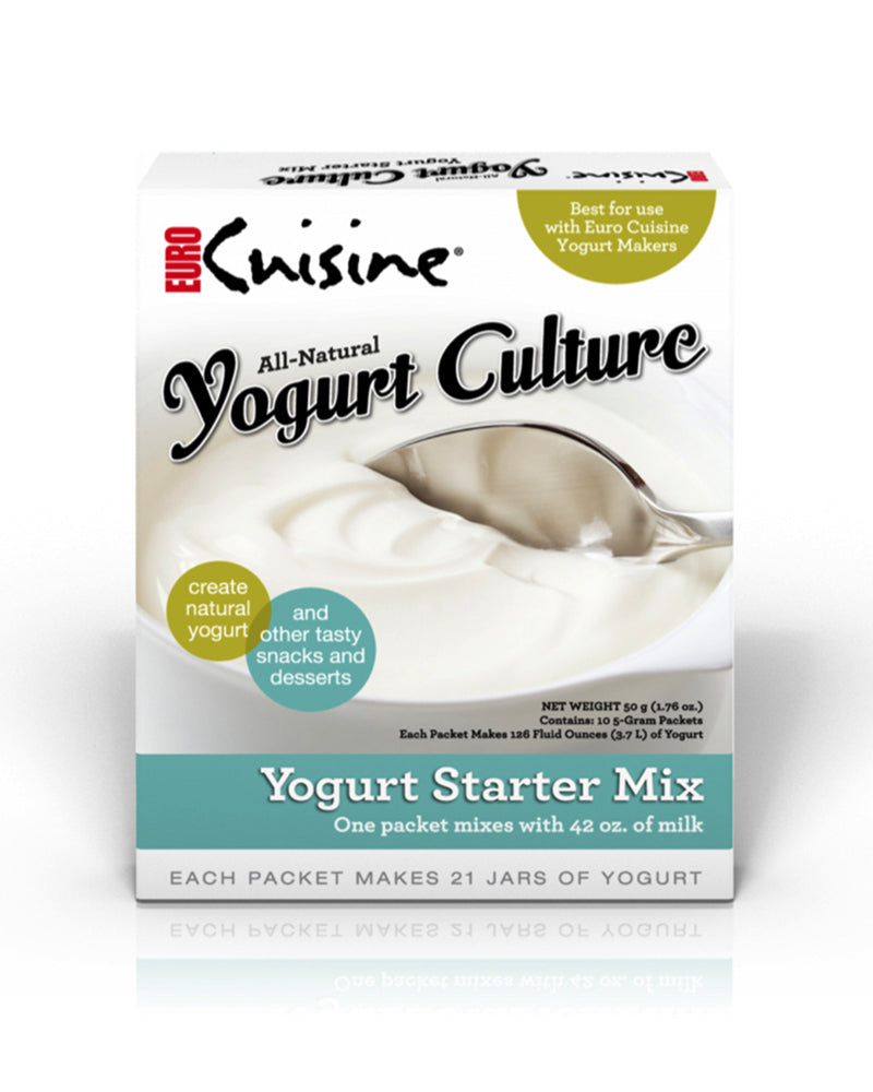 Euro Cuisine RI1020 All Natural Yogurt Starter/ Culture - 10-5gr packets