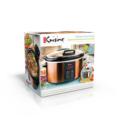 Euro Cuisine SCX6 Electric Slow Cooker - 6QT