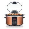 Euro Cuisine SCX6 Electric Slow Cooker - 6QT - Copper Finish