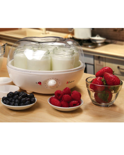 Euro Cuisine YM100 Automatic Yogurt Maker With 7 - 6oz Glass Jars