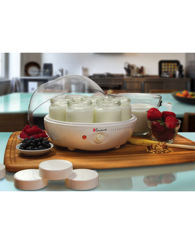 Euro Cuisine YM80 Electric Yogurt Maker - With 7 - 6oz Glass Jars