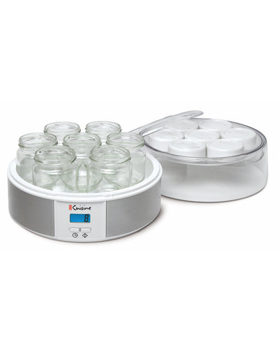 Euro Cuisine YMX650 Digital Authomatic Yogurt Maker With 7 - 6oz Glass Jars