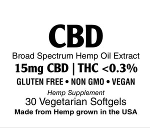 CBD Oil 15 mg Vegetarian Softgel