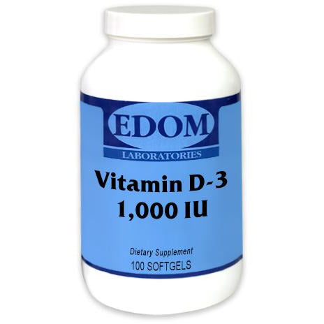 Vitamin D-3 1,000 IU Softgels