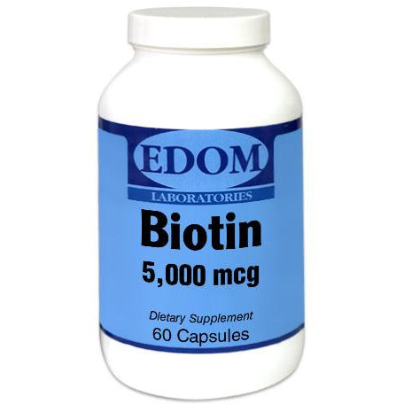Biotin helps support Healthy Hair, Strong Nails, and Skin. Biotin is also essential for metabolic processes including the metabolism of fats and amino acids, production of fatty acids, and cell growth.