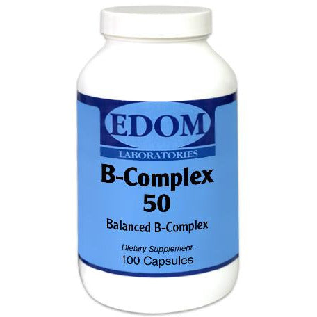 Vitamin B Complex 50 mg contains 11 individual B vitamins which work in a synergistic together to provide powerful nutritional support to your entire body.* High Potency Balanced B-Complex. B-Vitamins are vital to our lives. Their functions cover a wide spectrum which include aiding in blood cell formation, normal functioning of the nervous system, carbohydrate, protein and fat metabolism, energy production and helping combat the impact of stress.