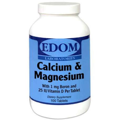 Calcium 500 mg & Magnesium 250 mg with 1 mg Boron and 25 iu Vitamin D per tablet. Calcium and magnesium are essential for bone health. Boron and vitamin D are added to help absorption.