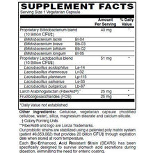 20 Billion Probiotic Supplement Facts