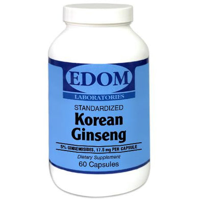 Korean Ginseng Standardized 350 mg. Capsules