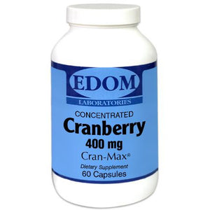 Supports Urinary and Immune System Health. Our Concentrated Cranberry 400 mg capsules contain the equivalent of 34 pounds of whole cranberries in each pound of cranberry powder.