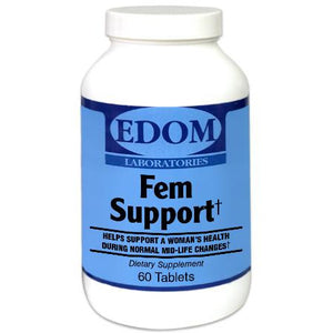 Fem Support Tablets - Promotes a woman's health naturally during normal mid-life changes.† Fem Support supports a woman's health during normal and mid-life changes. It is the most potent formula available for women during mid life changes. The emphasis in this formula is a high potency of Standardized Soy Isoflavones (Soy Life), Black Cohosh and Red Clover Extracts.