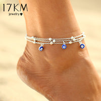 2 Style Turkish Eyes Beads Anklets For Women 2017 Sandals Pulseras Tobilleras Mujer Pendant Anklet Bracelet Foot Jewelry