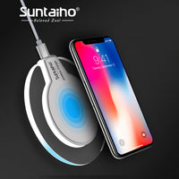 Qi Wireless Charger For Samsung Galaxy S8 S8Plus Suntaiho Fashion Charging Dock Cradle Charger For iphone 8 / 8 Plus X phone