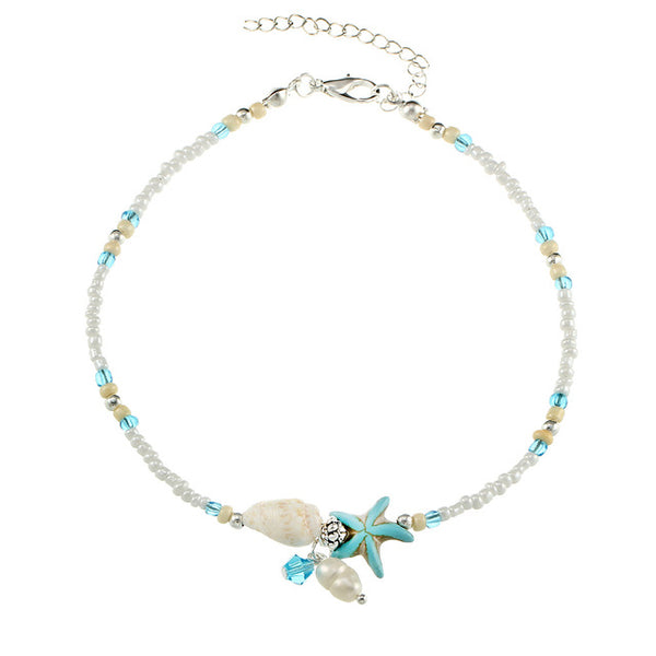 Shell Anklet Beads Starfish Anklets For Women 2018 Fashion Vintage Handmade Sandal Statement Bracelet Foot Boho Jewelry