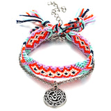 Vintage OM Rune Weave Anklets For Women 2018 New Handmade Cotton Anklet Bracelets Female Beach Foot Jewelry Gifts 2 PCS/Set