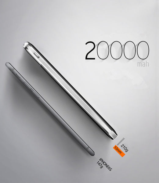 Original Power Bank 20000mAh 18650 External Battery Fast charge Dual USB Powerbank Portable Mobile phone Charger