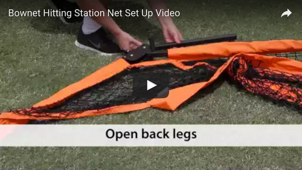 Bownet Hitting Station Net Set Up Video