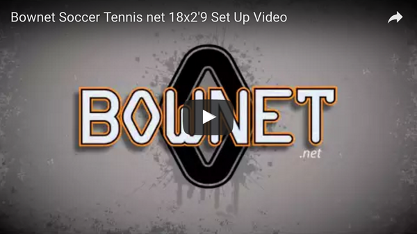 "Bownet 18' x 2'9"" Soccer Tennis Set Up Video"