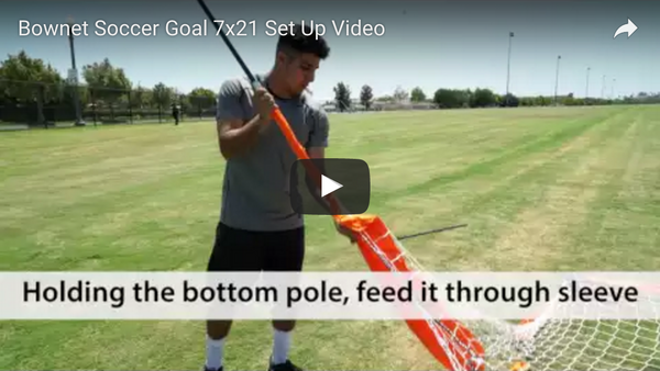 Bownet 7' x 21' Soccer Goal Set Up Video