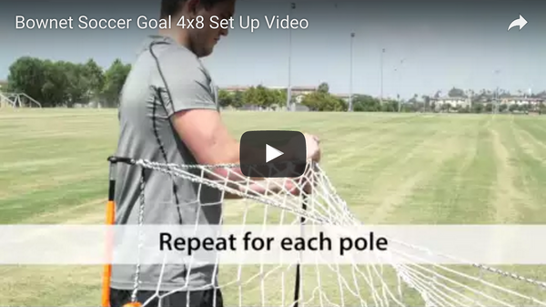 Bownet 4' x 6' & 4' x 8' Soccer Goal Set Up Video