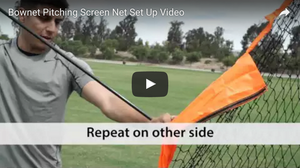 Bownet Pitching Screen Set Up Video