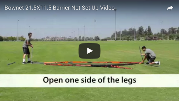 "Bownet 21'5"" x 11.5' Barrier Net Set Up Video"