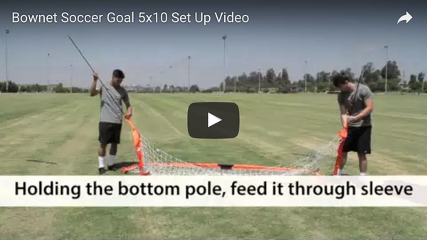 Bownet 5' x 10' Soccer Goal Set Up Video