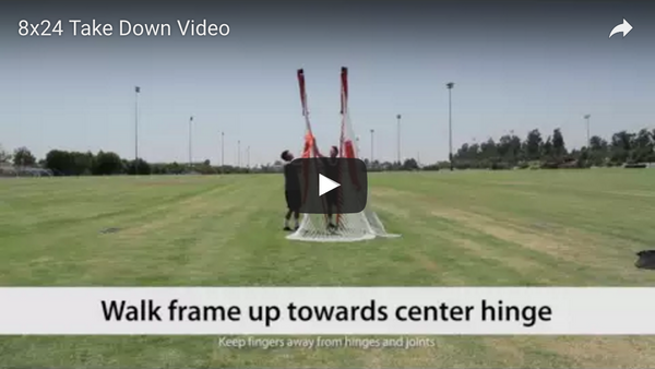 Bownet 8' x 24' Soccer Goal Take Down Video