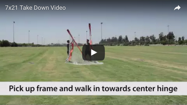 Bownet 7' x 21' Soccer Goal Take Down Video