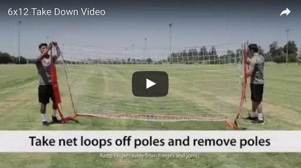 Bownet 6' x 12' Soccer Goal Take Down Video