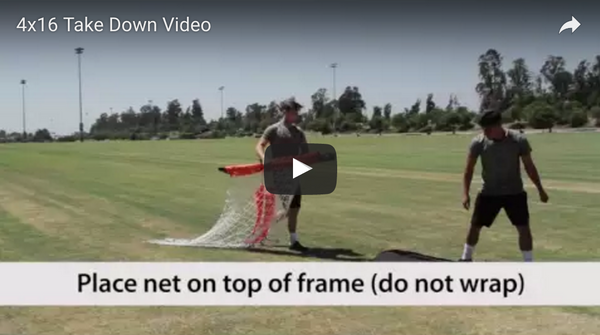 Bownet 4' x 16' Soccer Goal Take Down Video