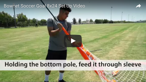 Bownet 8' x 24' Soccer Goal Set Up Video
