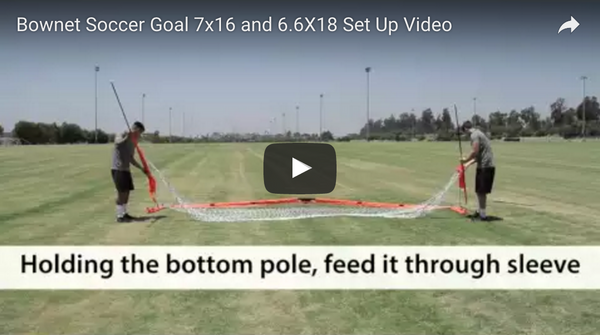 "Bownet 6'6"" x 18' Soccer Goals Set Up Video"