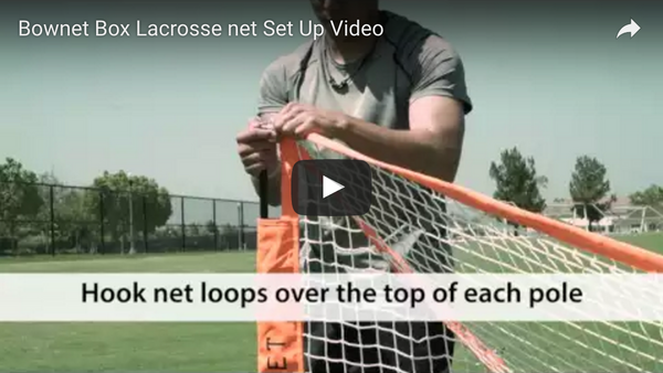 Bownet Box Lacrosse Net Set Up Video