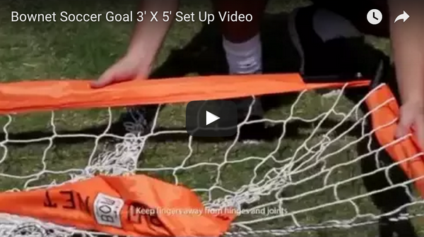 Bownet 3x5 Soccer Goal Set Up Video