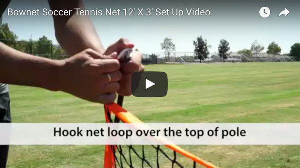 Bownet 12' x 3' Soccer Tennis Set Up Video